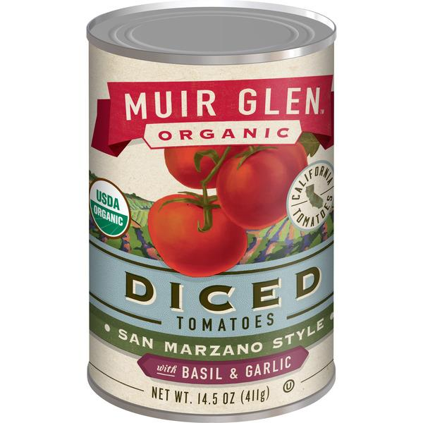 Muir Glen Organic Diced Tomatoes with Basil & Garlic
