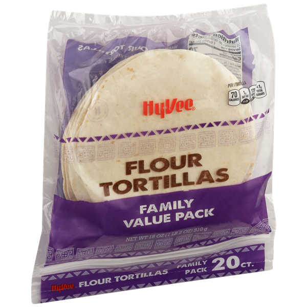 Hy-Vee Flour Tortillas Family Pack 20Ct