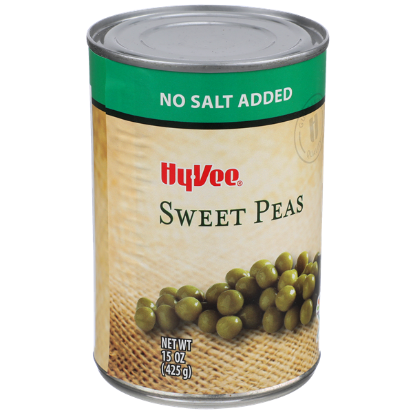 Hy-Vee No Salt Added Sweet Peas