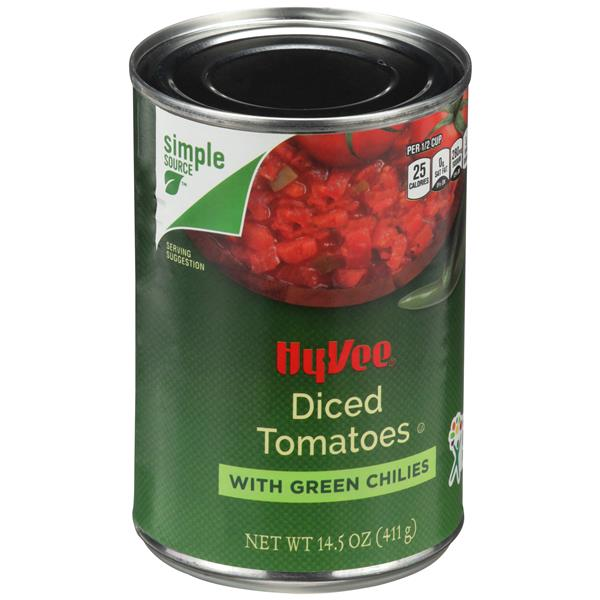 Hy-Vee Diced Tomatoes with Green Chilies