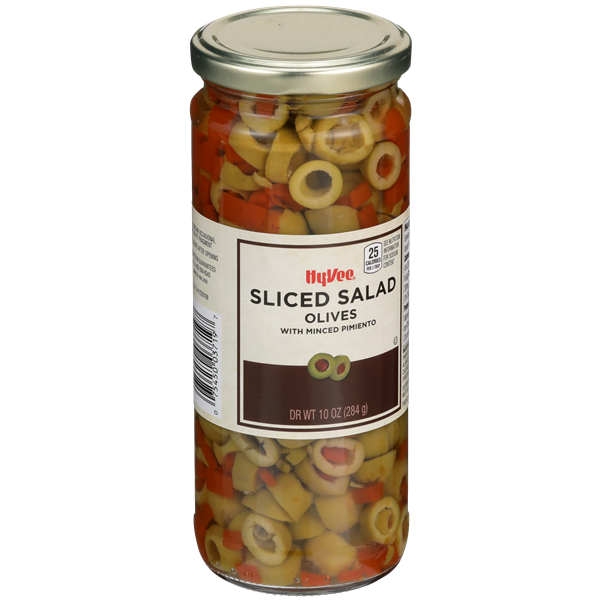 Hy-Vee Sliced Salad Olives With Minced Pimiento