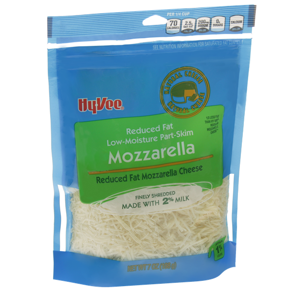 Hy-Vee Finely Shredded Reduced Fat Low-Moisture Part-Skim Mozzarella Natural Cheese