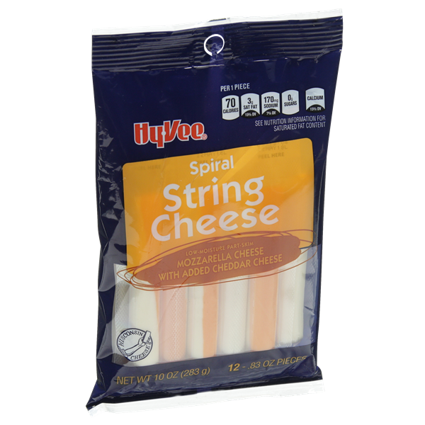 Hy-Vee String Cheese Spirals 12 Count