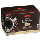 Hy-Vee 100% Colombian Single Serve Cup Coffee 12-.33 oz ea.
