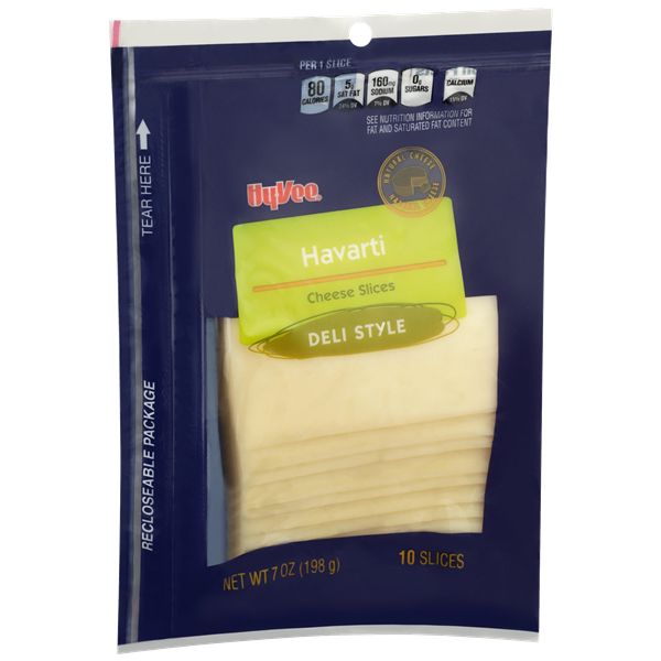 Hy-Vee Sliced Havarti Cheese