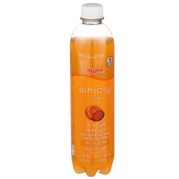 Hy-Vee Simply Ice Orange Mango Sparkling Water Beverage