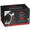 Hy-Vee Sumatran Blend Coffee Single Serve Cups 12-0.39 oz ea.