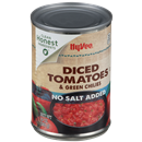 Hy-Vee No Salt Added Diced Tomatoes & Green Chilies