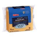Hy-Vee Singles Reduced Fat 2% Milk American Pasteurized Prepared Cheese Product 16Ct