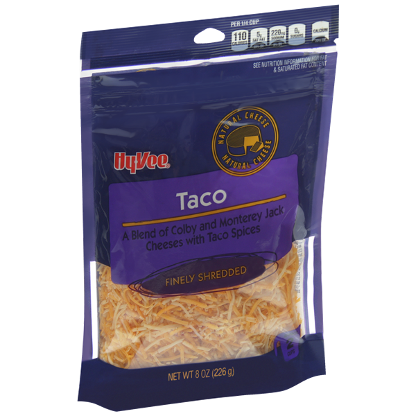 Hy-Vee Finely Shredded Taco Natural Cheese
