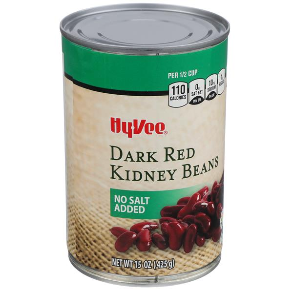 Hy-Vee No Salt Added Dark Red Kidney Beans
