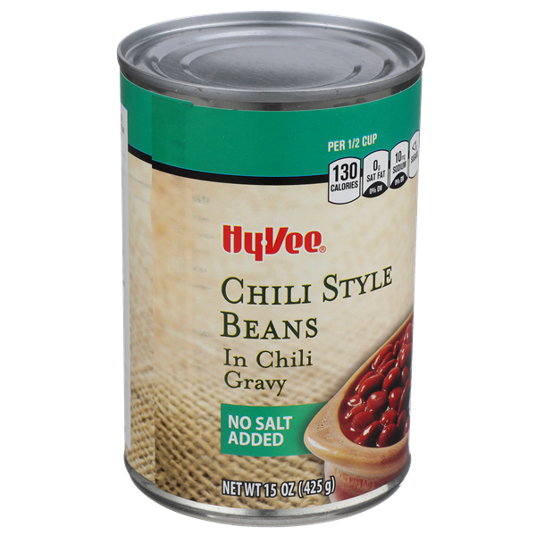 Hy-Vee No Salt Added Chili Style Beans