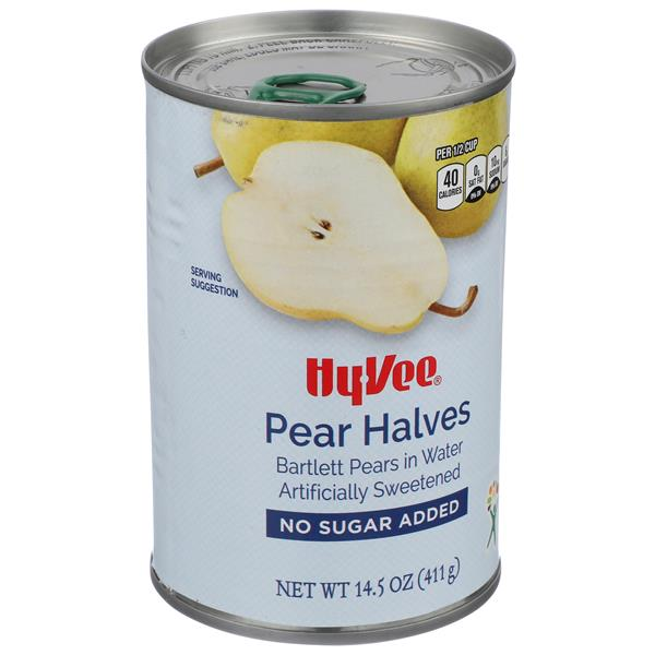 Hy-Vee No Sugar Added Pear Halves With Splenda