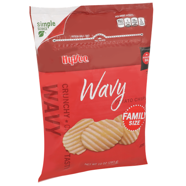 Hy-Vee Wavy Potato Chips Family Size