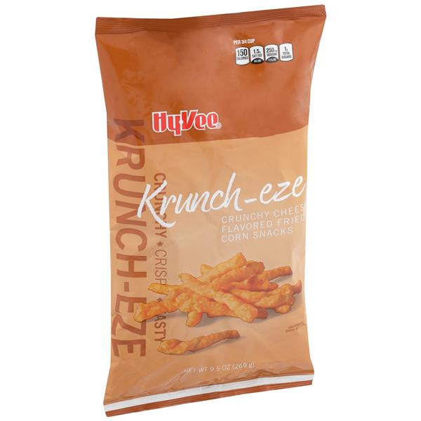 Hy-Vee Krunch-eze Crunchy Cheese Flavored Fried Corn Snacks