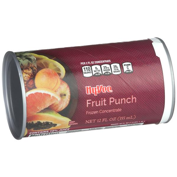 Hy-Vee Fruit Punch Frozen Concentrate