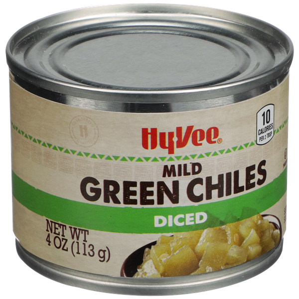 Hy-Vee Mild Green Chiles Diced