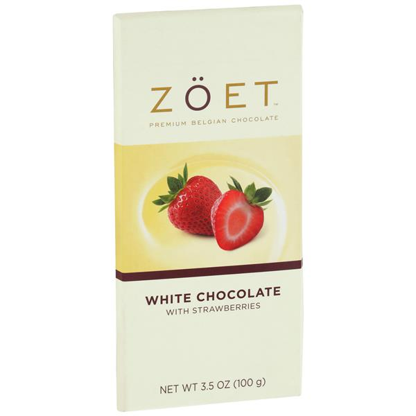 Zoet Premium Belgian White Chocolate with Strawberries