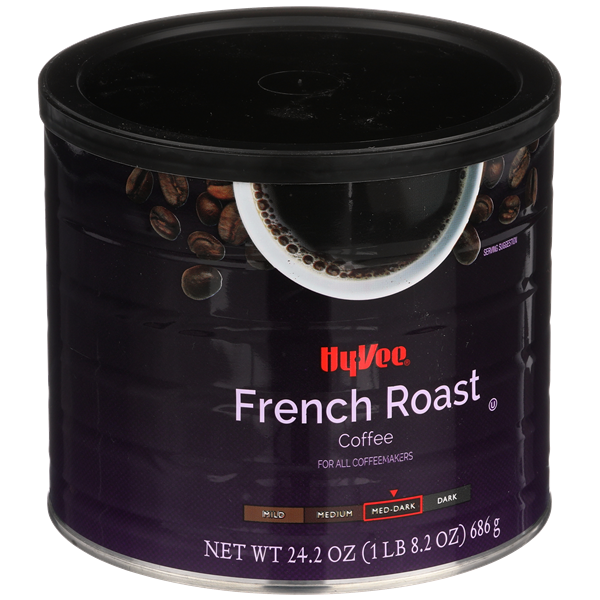 Hy-Vee Med-Dark French Roast Ground Coffee