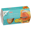 Hy-Vee Tropical Fruit in Juice 4-4 oz Bowls