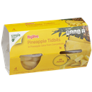 Hy-Vee Pineapple Tidbits In Pineapple Juice From Concentrate 4-4 oz Bowls