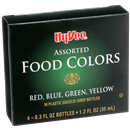Hy-Vee Assorted Food Colors Red, Blue, Green, Yellow 4-0.3 fl oz Bottles