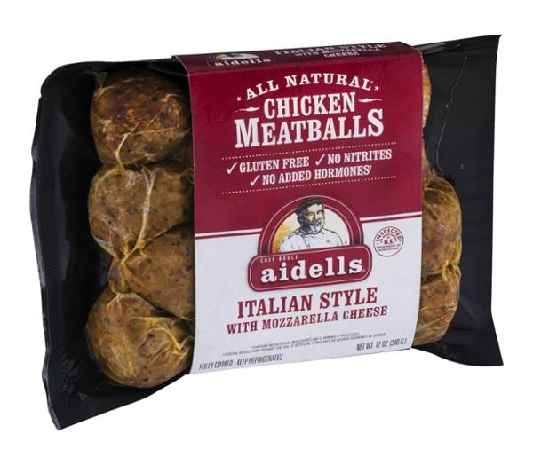 Aidells Chicken Meatballs, Italian Style with Mozzarella Cheese, 12 oz.