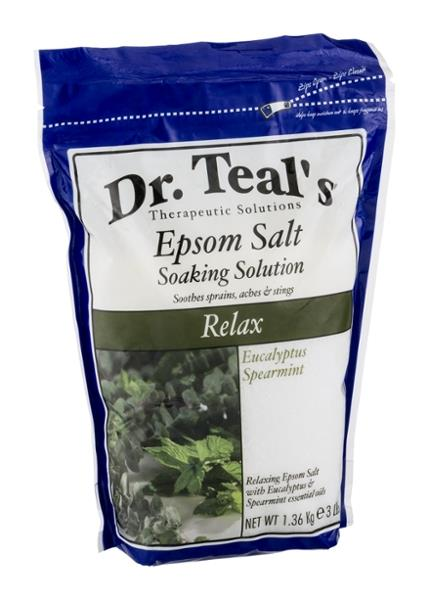 Dr. Teal's Epsom Salt Soaking Solution with Eucalyptus Spearmint
