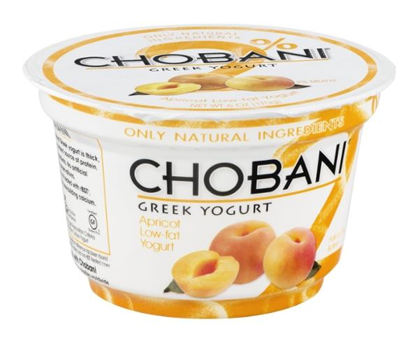 Chobani Apricot on the Bottom Low-Fat Greek Yogurt