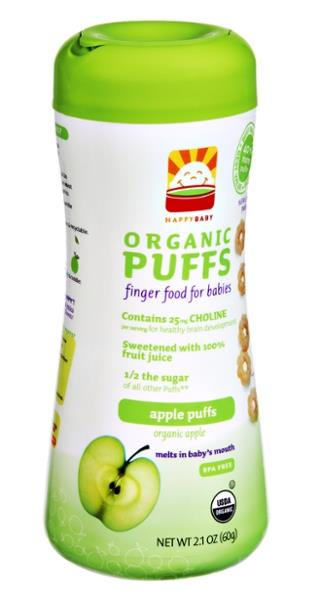 Happy Baby Apple & Broccoli Superfood Puffs