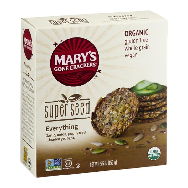 Mary's Gone Crackers Organic Super Seed Everthing