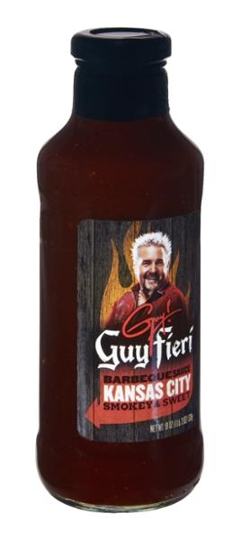 Guy Fieri Kansas City Smoky & Sweet Barbeque Sauce 19 fl. oz. Bottle