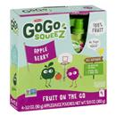 GoGo Squeez Applesauce On The Go Pouches Apple Berry - 4 CT