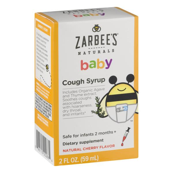 Zarbee S Naturals Baby Cough Syrup Natural Cherry Flavor